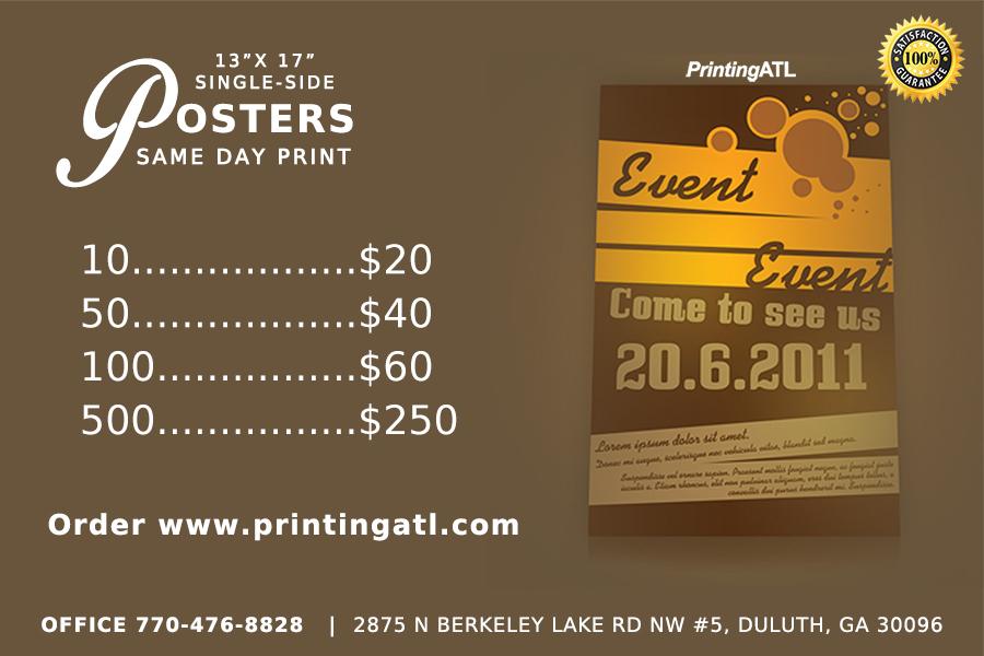 Posters Printing Specials Atlanta GA